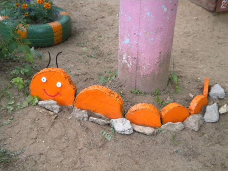 Поделка на участок детского сада из дерева 616
